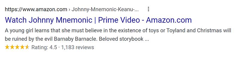 Johnny Mnemonic Amazon Prime Rating.png