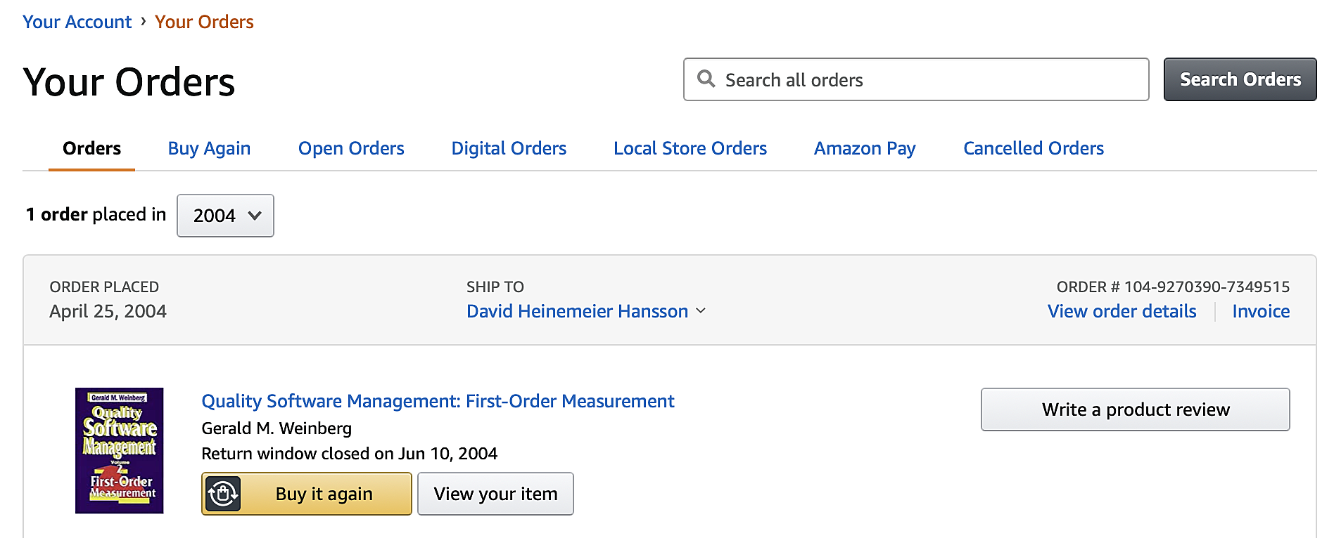 my amazon book purchases from 2004 are still in the database.png