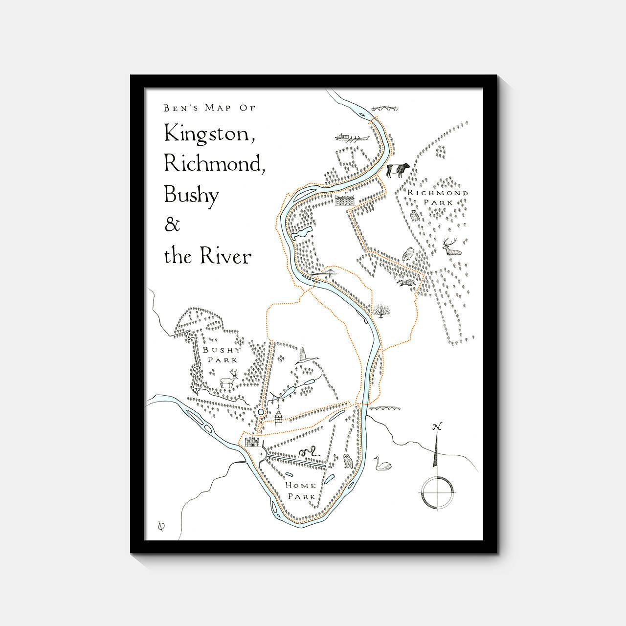 commission -Kingston, Richmond, Bushy and the River -Ben -framed.jpg